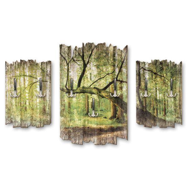 Gebogener Baum Shabby chic 3-Teiler Garderobe aus MDF