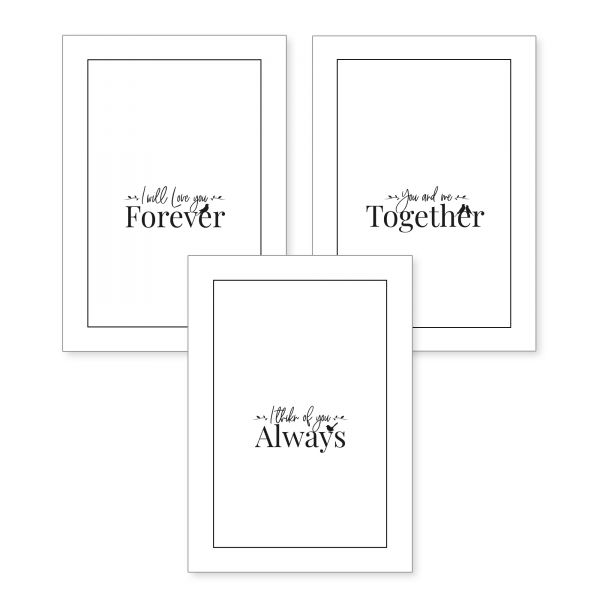 3-teiliges Poster-Set | Always | optional mit Rahmen | DIN A4 oder A3