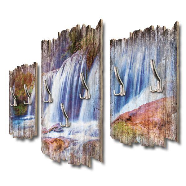 Wasserfallpanorama Shabby chic 3-Teiler Garderobe aus MDF