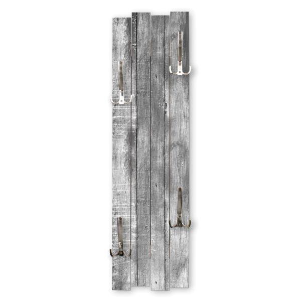 Altes Holz Grau | Shabby chic Holz-Garderobe | ca.100x30cm aus MDF