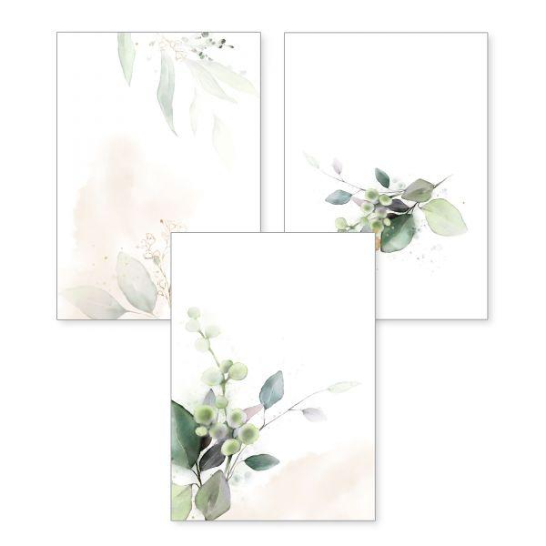 3-teiliges Poster-Set | Blütenzweig | optional mit Rahmen | DIN A4 oder A3