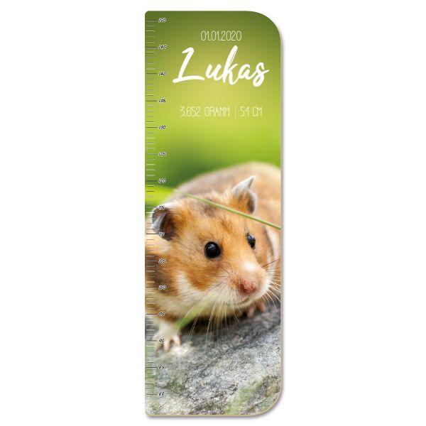 Hamster Messlatte fürs Kinderzimmer aus MDF