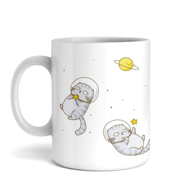 Tasse mit Motiv   Space Cat   Keramiktasse   fasst ca. 300ml   ideales Geschenk