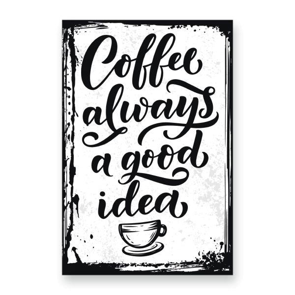 Deko-Schild aus MDF | Coffee | in 2 Größen | inkl. Aufhängung und Ständer