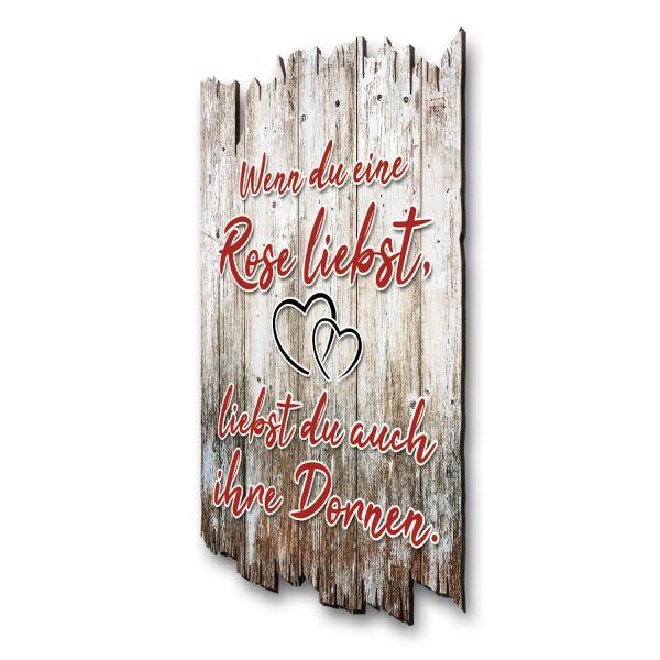 """Sprüche-Holzschild """"Rose"""""""