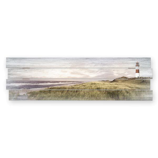 Leuchtturm | Shabby chic Holzbild | ca.100x30cm