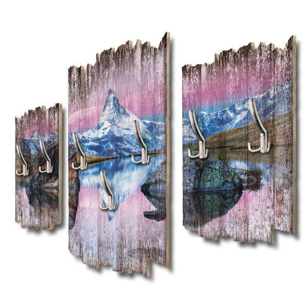 Matterhorn Panorama Shabby chic 3-Teiler Garderobe aus MDF