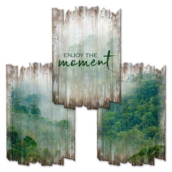 Wald | Deko-Holzschilder im 3er Set | wahlw. in 30x20cm oder 30x45cm