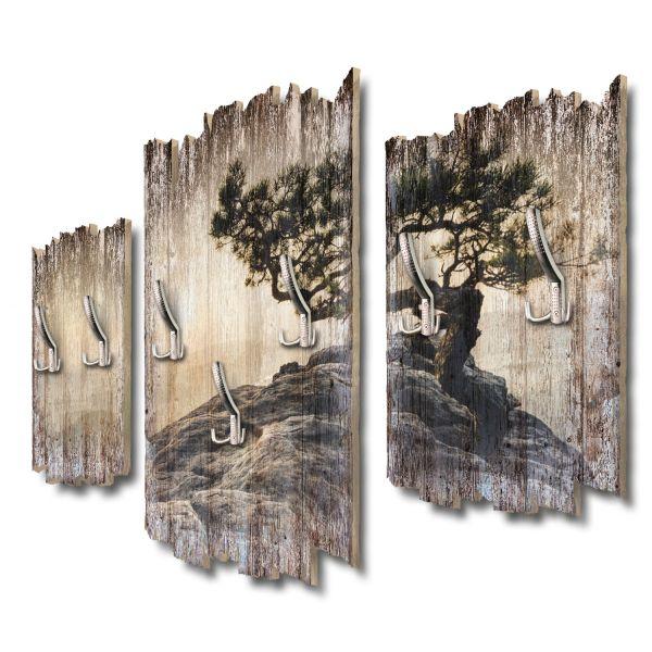 Einsamer Baum Shabby chic 3-Teiler Garderobe aus MDF
