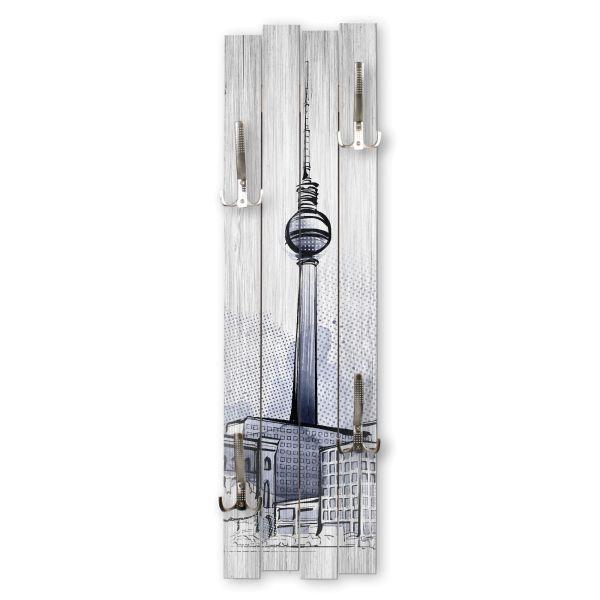 Berlin | Shabby chic Holz-Garderobe | ca.100x30cm aus MDF