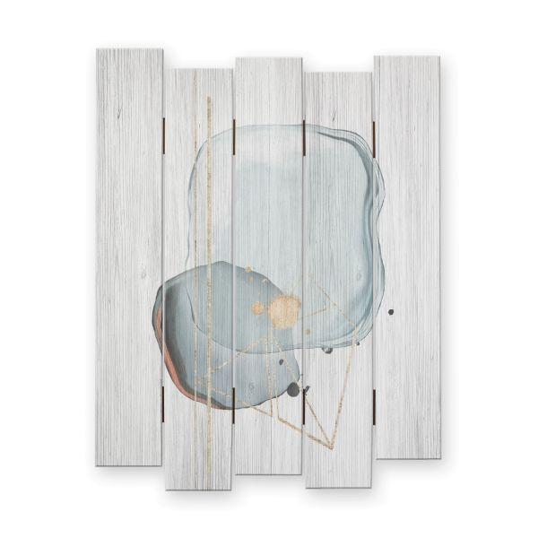 Abstrakt | Shabby chic Holzbild | ca.60x44cm