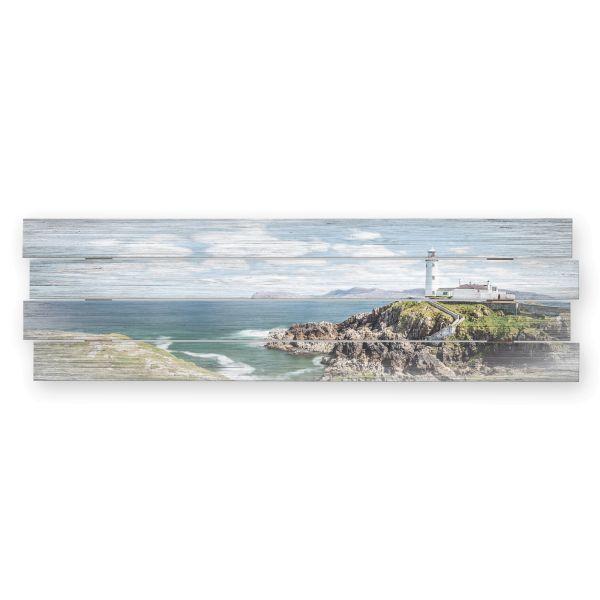 Küste | Shabby chic Holzbild | ca.100x30cm