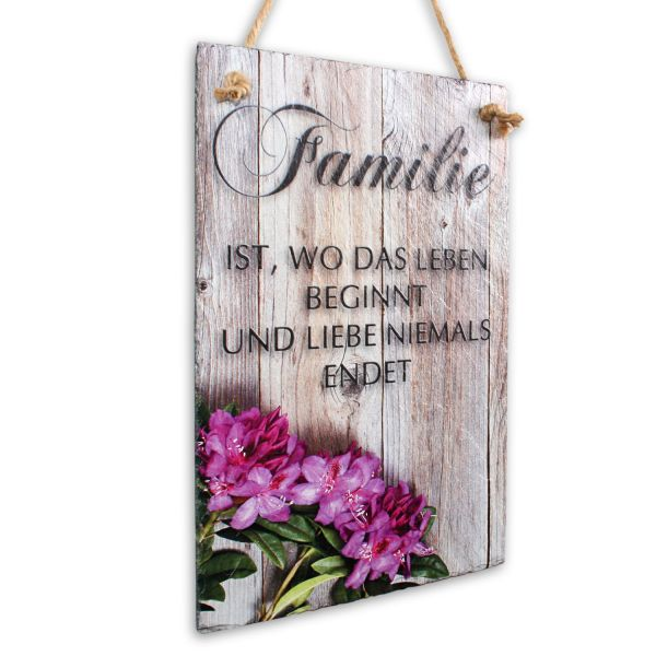 """Sprüche-Schieferschild """"Familie"""""""