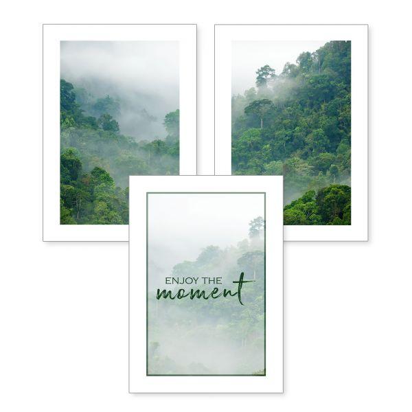 3-teiliges Poster-Set | enjoy the moment | optional mit Rahmen | DIN A4 oder A3