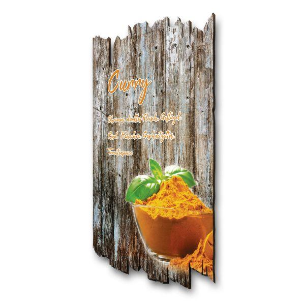 "Gewürze-Holzschild ""Curry"""
