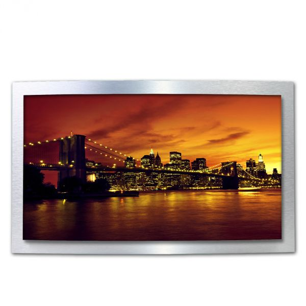 3D Wandbild New York USA aus gebürstetem Aluminium