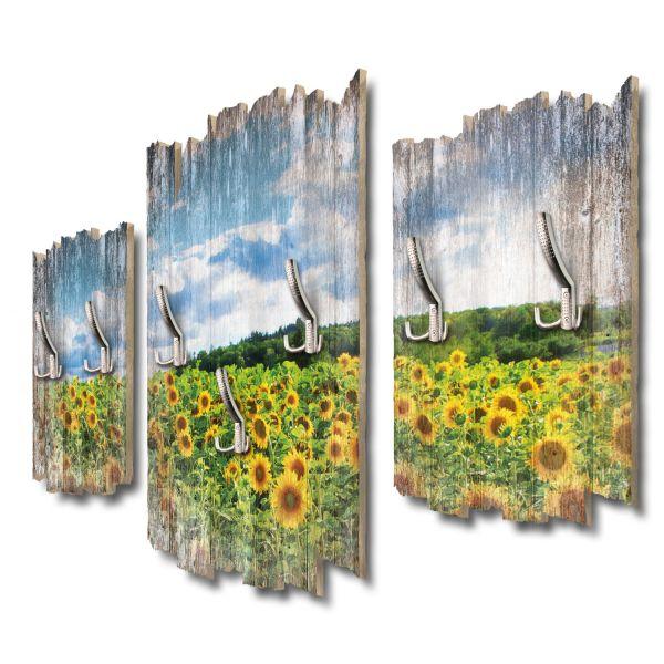 Sonnenblumenfeld Shabby chic 3-Teiler Garderobe aus MDF