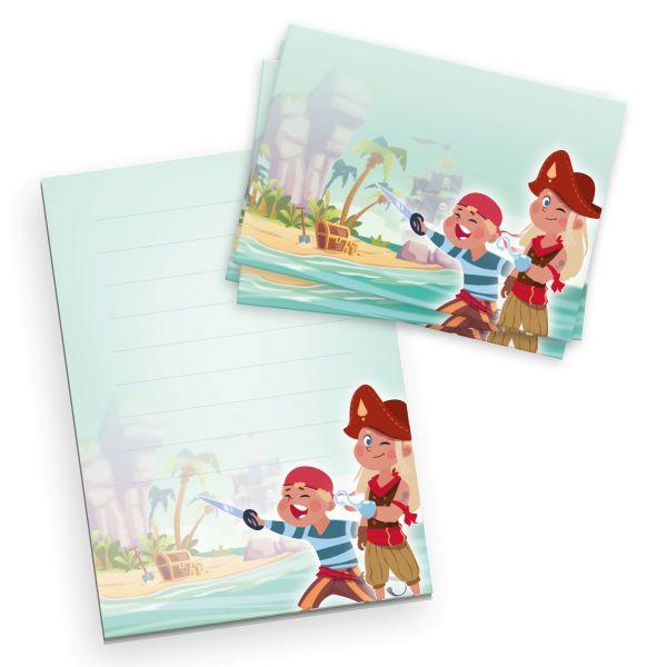 Briefpapier-Set für Kinder   Piraten   DIN A5 Briefpapier-Block 50 Blatt mit 20 Umschlägen