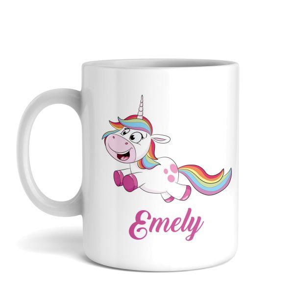 Tasse mit Ihrem Wunschnamen   Einhorn   Keramiktasse   fasst ca. 300ml   ideales Geschenk