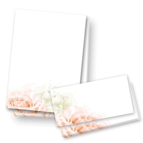 Briefpapier-Set   Blüten   25x DIN A4 Briefpapier mit passenden Umschlägen