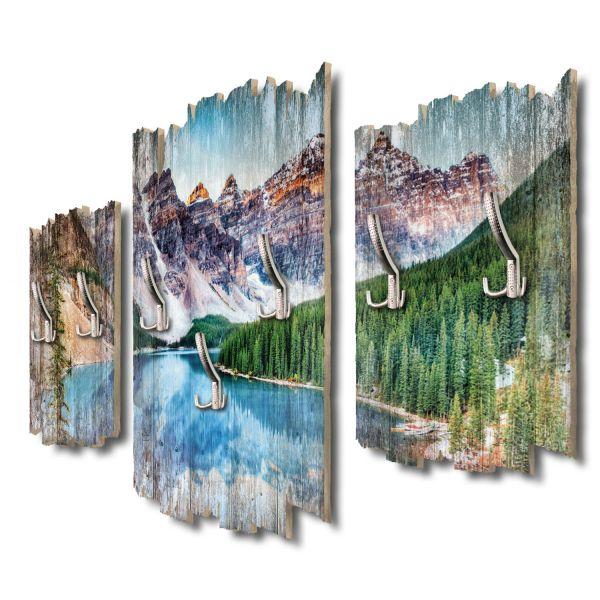 Kanada Moraine Lake Shabby chic 3-Teiler Garderobe aus MDF
