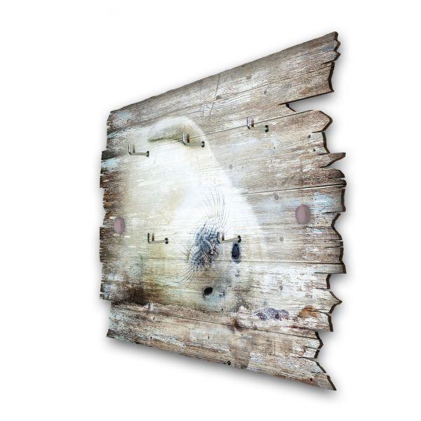 Robbe Schlüsselbrett mit 5 Haken im Shabby Style aus Holz