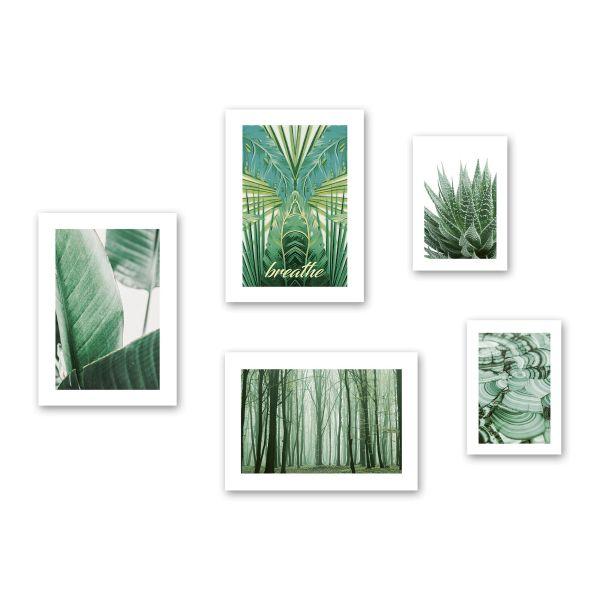 """""""Natur"""" 5-teiliges Poster-Set - optional mit Rahmen - 3x DIN A3 & 2x DIN A4"""