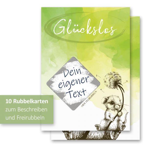 """""""Maus"""" Rubbelkarten im 10er Set mit Umschlägen und Rubbelstickern"""