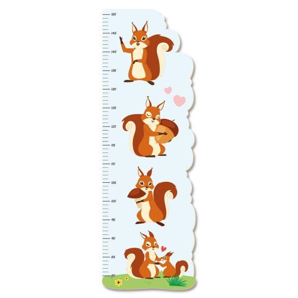 Eichhörnchen Messlatte fürs Kinderzimmer aus MDF