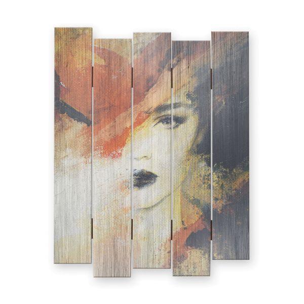 Woman | Shabby chic Holzbild | ca.60x44cm