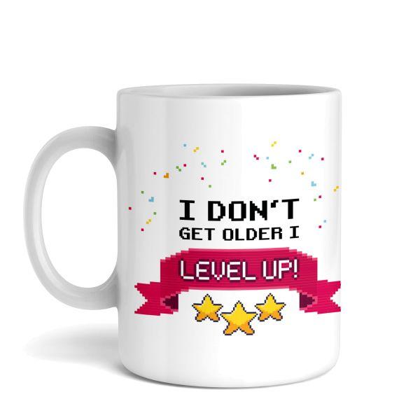 Tasse mit Motiv   Level Up   Keramiktasse   fasst ca. 300ml   ideales Geschenk