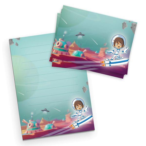 Briefpapier-Set für Kinder   Weltall   DIN A5 Briefpapier-Block 50 Blatt mit 20 Umschlägen