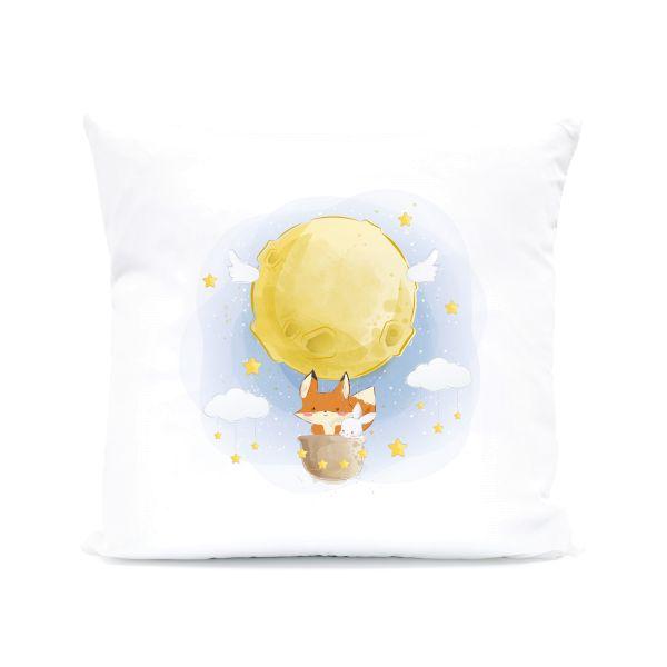 Kissen mit Motiv | Ballonfahrt | 40x40cm Kissen | ideales Geschenk Kinder