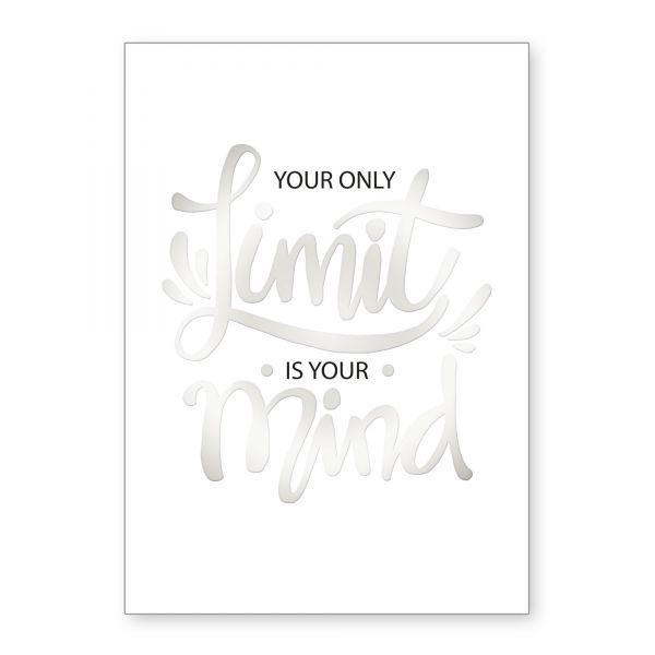 """Limit"" mit Chrom-Effekt veredeltes Poster - optional mit Rahmen - DIN A4"