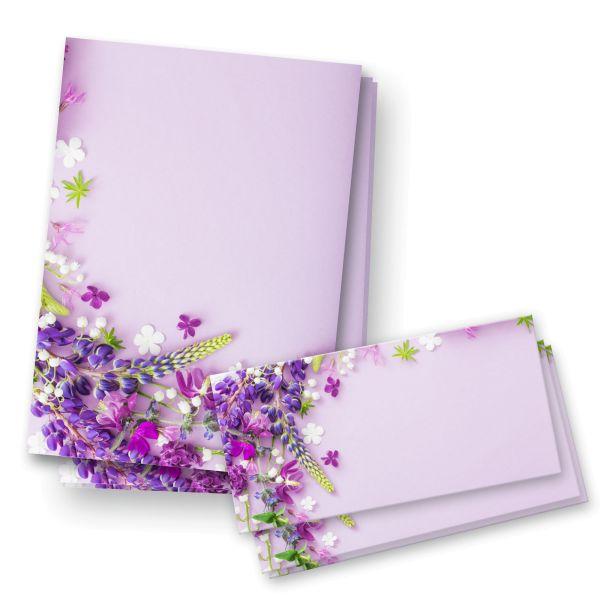Briefpapier-Set | Lila | 25x DIN A4 Briefpapier mit passenden Umschlägen