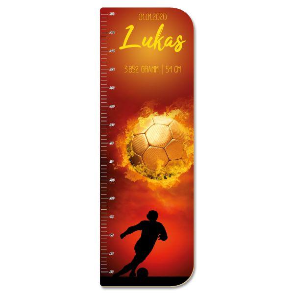 Fußball Messlatte fürs Kinderzimmer aus MDF