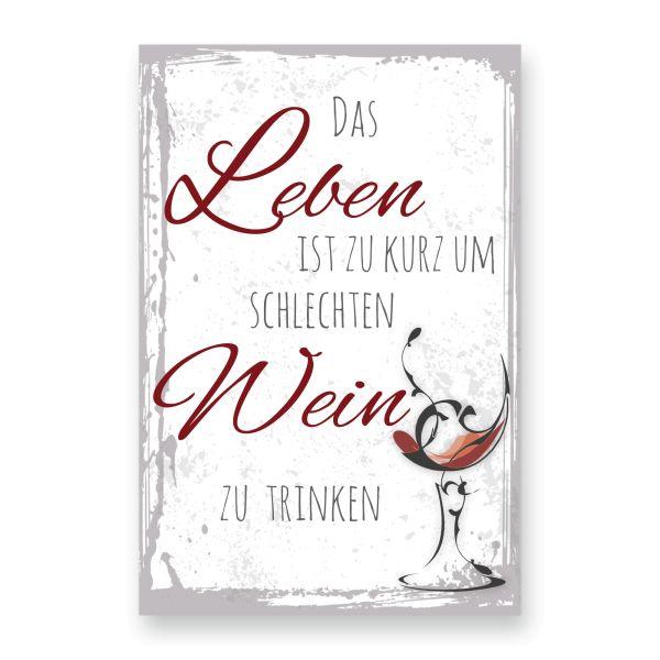 Deko-Schild aus MDF | Wein | in 2 Größen | inkl. Aufhängung und Ständer