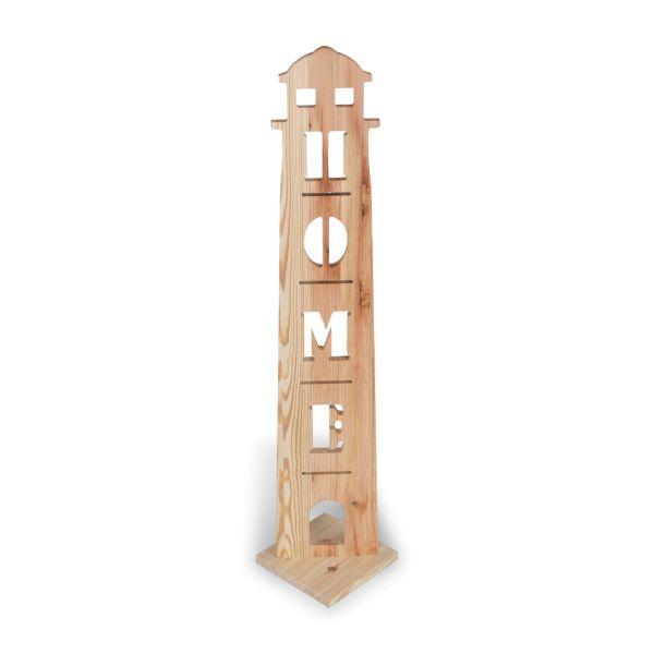Leuchtturm | Holzstele mit schönen Motiven | ideale Deko für Haustür oder Flur