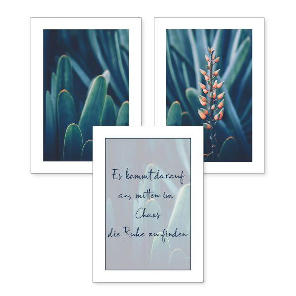 3-teiliges Poster-Set | Ruhe | optional mit Rahmen | DIN A4 oder A3