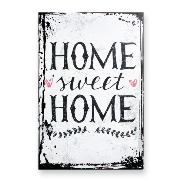 Deko-Schild aus MDF   Home Sweet Home   in 2 Größen   inkl. Aufhängung und Ständer