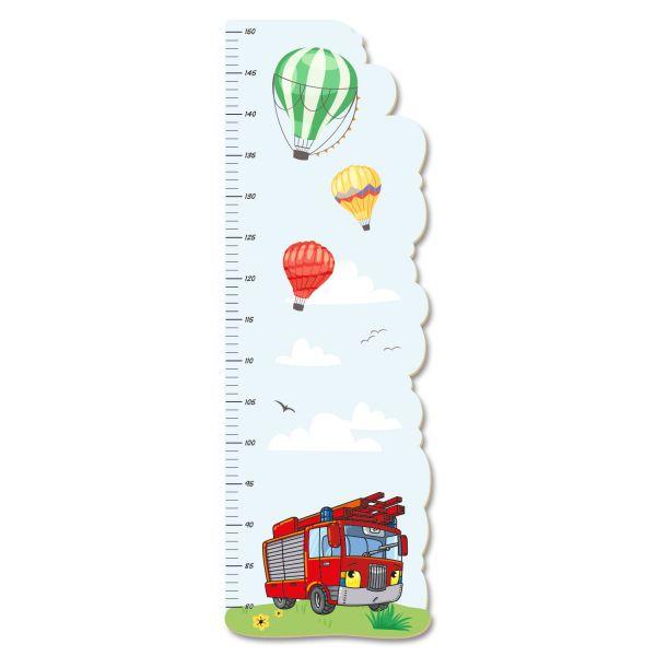 Feuerwehrauto Messlatte fürs Kinderzimmer aus MDF
