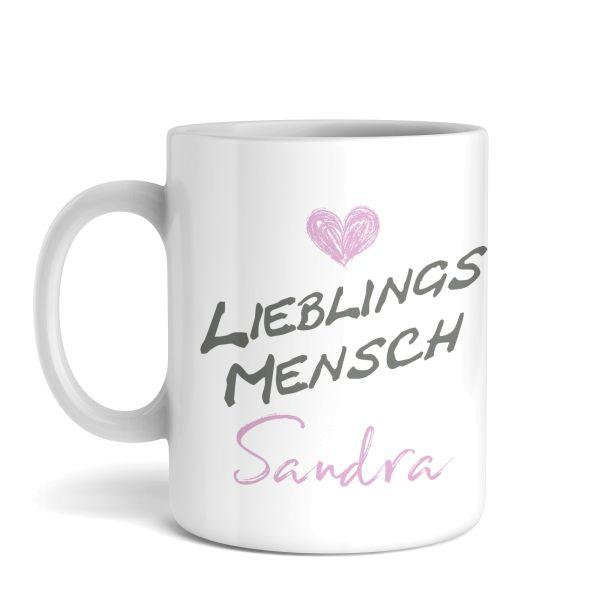 Tasse mit Ihrem Wunschnamen | Lieblings... | Keramiktasse | fasst ca. 300ml | ideales Geschenk