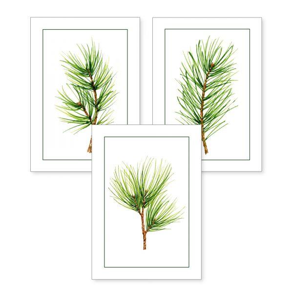 3-teiliges Poster-Set | Grüne Zweige | optional mit Rahmen | DIN A4 oder A3