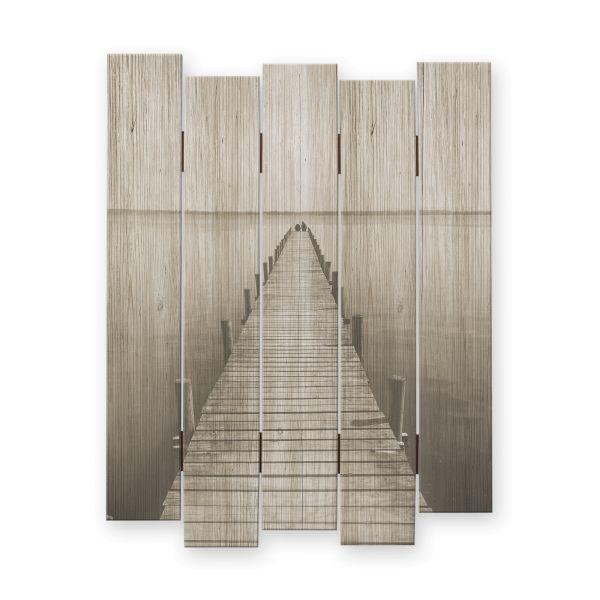 Steg | Shabby chic Holzbild | ca.60x44cm