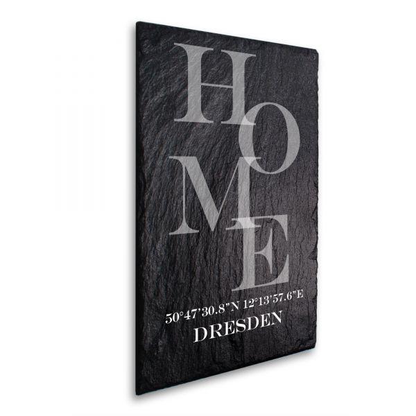 Home Deko-Schild aus echtem Schiefer mit Ihrem Wunschtext