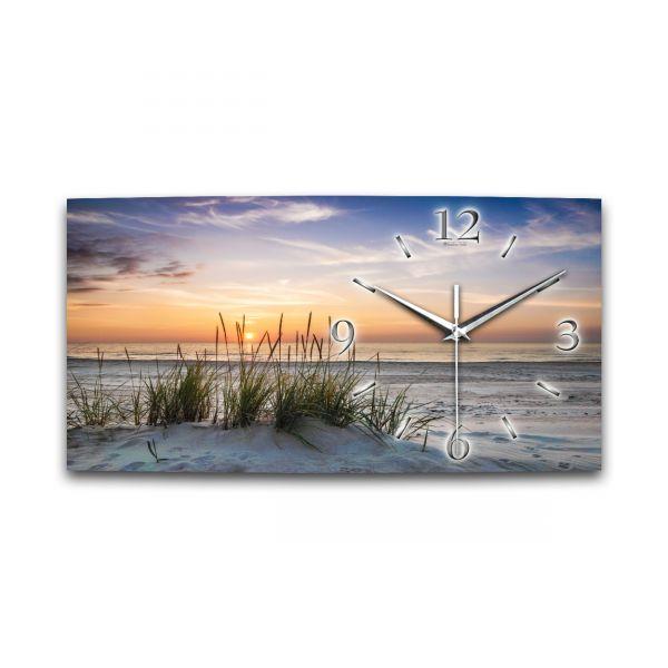 Wanduhr Sanddüne aus Alu-Verbund mit leisem Funkuhrwerk