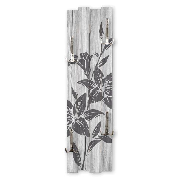 Blüten | Shabby chic Holz-Garderobe | ca.100x30cm aus MDF