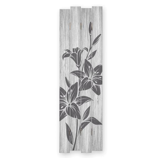 Blumen | Shabby chic Holzbild | ca.100x30cm
