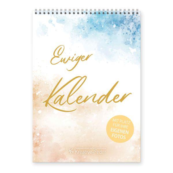 Ewiger Kalender | Pastell | immerwährend & jahresunabhängig | ideal für Geburtstage | DIN A4
