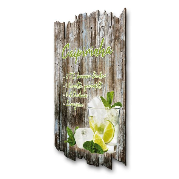 "Cocktail-Holzschild ""Caipirinha"""